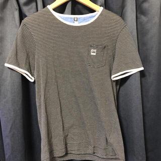 ジースター(G-STAR RAW)のG-STAR RAW ボーダー柄ポケT(Tシャツ/カットソー(半袖/袖なし))