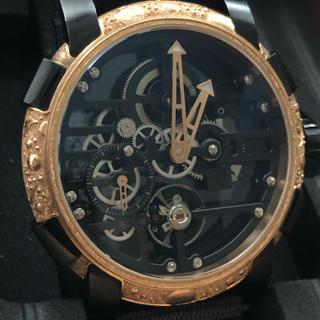 極美品ロマンジェロームROMAIN JEROMEスカイラブ48レッドエングレーブ(腕時計(アナログ))