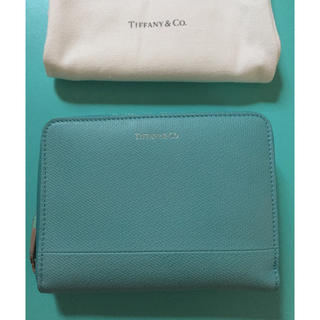 Tiffany & Co. - 新品☆廃盤ティファニーコンパクトウォレット 二つ折小銭入ありティファニーブルー