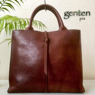 genten - 美品 genten ゲンテン 定35,640円 トスカレザーハンドバッグ 鞄