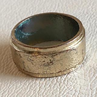 (114)幅広リング ゴールド  ヴィンテージ(リング(指輪))