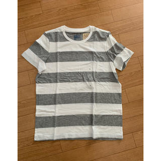 MUJI (無印良品) - 無印良品 ボーダー Tシャツ L