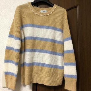 ナイスクラップ(NICE CLAUP)の⑤襟元パールが可愛い☆ ボーダーニット(ニット/セーター)