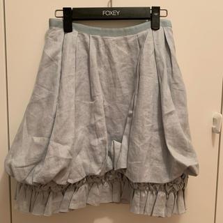 フォクシー(FOXEY)のFOXEY☆リネンホイップ スカート(ひざ丈スカート)