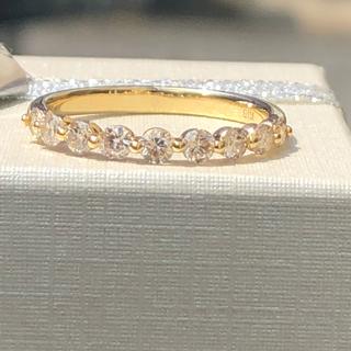 k18 ダイヤモンドリング 0.5カラット 美品 ブラウン(リング(指輪))