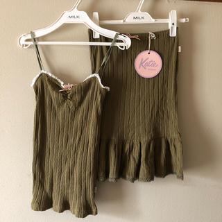 Katie - 31日削除 未使用Katie UNDER PRETTIES キャミ+スカート
