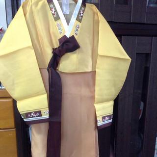 新作チマチョゴリゴールドベージュ(その他ドレス)