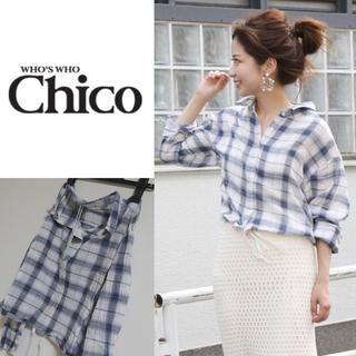 フーズフーチコ(who's who Chico)の新品 フーズフーチコ   チェックシャツ(シャツ/ブラウス(長袖/七分))