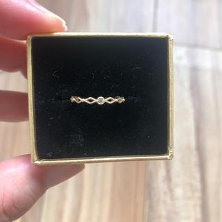 アガット(agete)のSIENA 3号 K10 0.01ダイヤリング(リング(指輪))