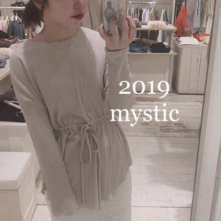 mystic - mystic2019❤︎ギャザーリボンプルオーバー