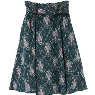 axes femme - ❮新品未使用♪❯axes femme フラワーパターンミドルスカート♪
