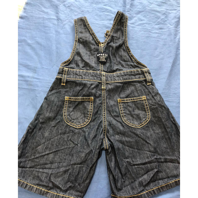BREEZE(ブリーズ)のブリーズデニムフレアサロペット キッズ/ベビー/マタニティのベビー服(~85cm)(パンツ)の商品写真