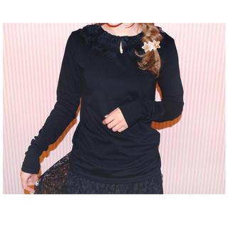 ケイティー(Katie)の美品【VICTORIA tulle collar long tee 】未使用(Tシャツ(長袖/七分))
