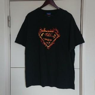 アメコミ ロゴTシャツ スーパーマン 海外古着 ビッグシルエット