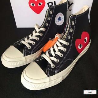 コムデギャルソン(COMME des GARCONS)の CDG Play x Converse 布靴 カップル 男女兼用   新品 (スニーカー)