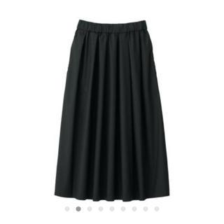 MUJI (無印良品) - ストレッチ高密度織り イージーギャザースカート