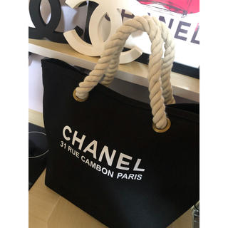 CHANEL - CHANEL キャンバス トートバッグ シャネル 黒 マザーズバッグ トート