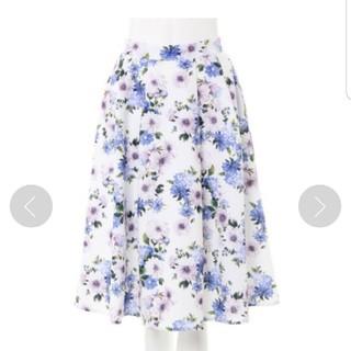 INGNI - INGNI 花柄ミディフレアスカート