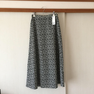 GU - GU   フラワープリント フレアロングスカート   M  新品