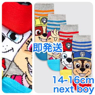 ネクスト(NEXT)の【新品】ストライプ Paw Patrol ソックス4足組(ヤンガー)14-16(靴下/タイツ)