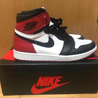 NIKE - Nike air jordan1 retro high og つま黒