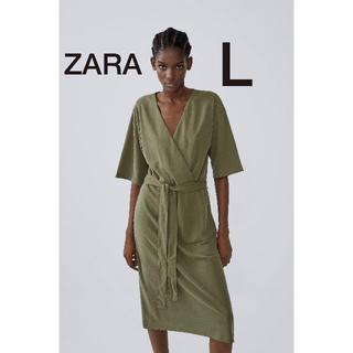 ZARA - ZARA/ザラ/カシュクールフルイドワンピース