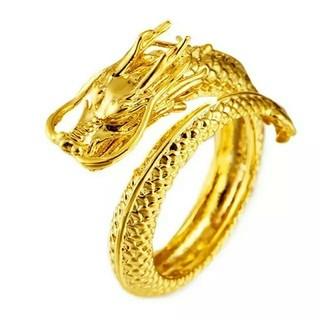 フリーサイズ ドラゴン リング 指輪 ゴールド(リング(指輪))