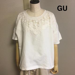 GU - 【GU】ジーユー レース トップス XL