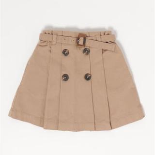 petit main - petitmain ベルト付きチノフレアスカート