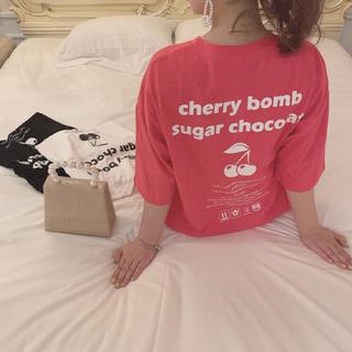 フーズフーチコ(who's who Chico)のチェリーTシャツ day23(Tシャツ(半袖/袖なし))