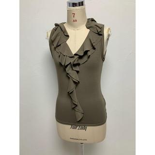 ボッシュ(BOSCH)の美品★bosch★ノースリーブ フリル 38(Tシャツ(半袖/袖なし))