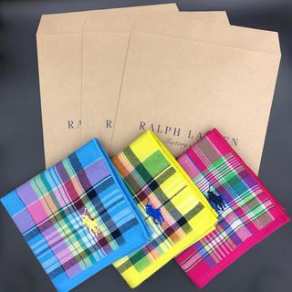 Ralph Lauren - 【新品】ラルフローレン ミニタオルハンカチ 3枚セット