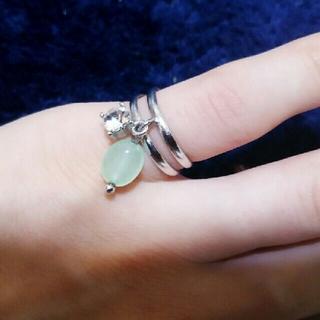 天然石のピンキーリング(リング(指輪))