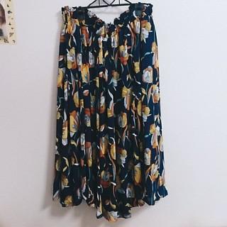 大きいサイズレトロな花柄ロングスカート(ロングスカート)