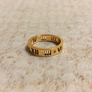 ティファニー(Tiffany & Co.)のTIFFANY & CO. 18k 750 アトラス 指輪 6号 ローマ数字(リング(指輪))