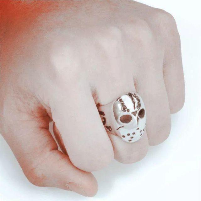 ホッケーマスクキラーリング メンズリング メンズのアクセサリー(リング(指輪))の商品写真