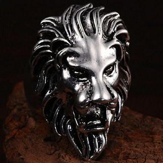 ライオンリング シルバー メンズリング(リング(指輪))