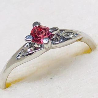 K18WG ピンク石のリング(リング(指輪))