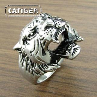 タイガーヘッドリング メンズリング(リング(指輪))