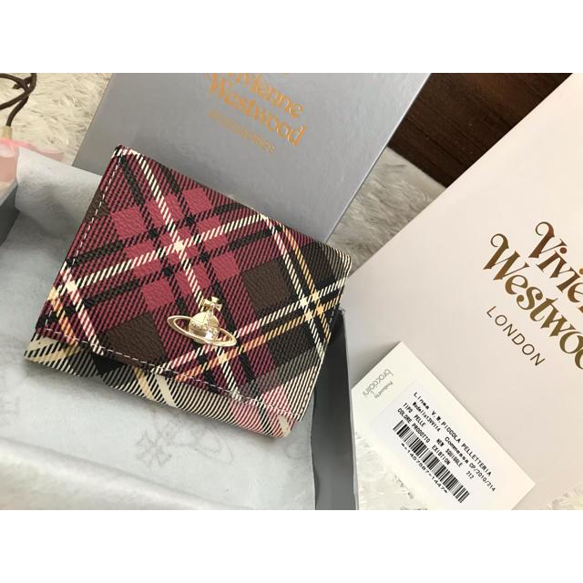 Vivienne Westwood(ヴィヴィアンウエストウッド)のヴィヴィアンウエストウッド 折り財布 新品 箱付き チェック柄 がま口 レディースのファッション小物(財布)の商品写真