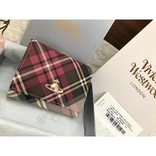 ヴィヴィアンウエストウッド(Vivienne Westwood)のヴィヴィアンウエストウッド 折り財布 新品 箱付き チェック柄 がま口(財布)