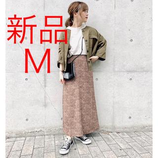 しまむら - 新品 しまむら ブラウン 花柄ロングスカート