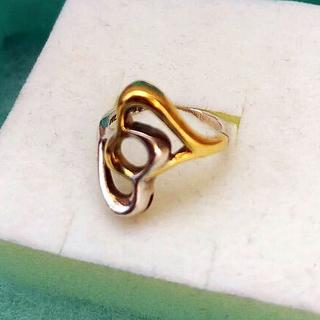 ティファニー(Tiffany & Co.)のTiffanyダブルハート SV925 YG750 リング8号(リング(指輪))