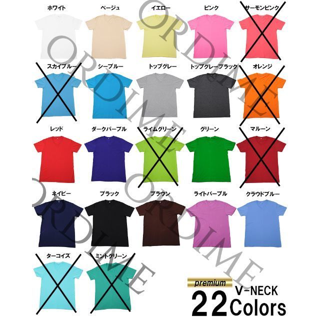 ★夏SALE 高品質 VネックTシャツ 100%綿 無地 半袖  メンズのトップス(Tシャツ/カットソー(半袖/袖なし))の商品写真