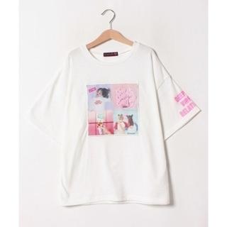 lovetoxic - 2019【新品】lovetoxic ラブトキカラーブロック転写半袖Tシャツ160