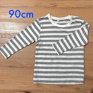 MUJI (無印良品) - 無印良品 長袖ボーダーTシャツ 90cm