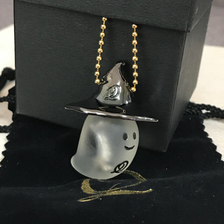 Q-pot. - 未使用 キューポット ハロウィン限定おばけちゃん 魔女っ子ハット付きネックレス