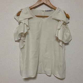 ローズバッド(ROSE BUD)の(ROSE BUD)肩開きリボントップス(シャツ/ブラウス(半袖/袖なし))