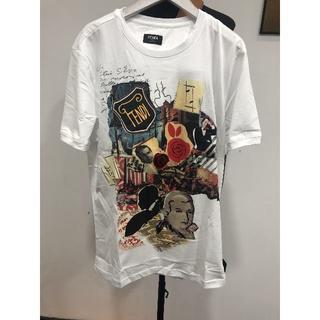 フェンディ(FENDI)のFENDI メンズ ホワイト カール 2019AW Tシャツ(Tシャツ/カットソー(半袖/袖なし))