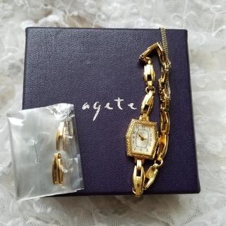 agete - レア商品✨agete アンティーク風デザイン時計⌚ゴールド